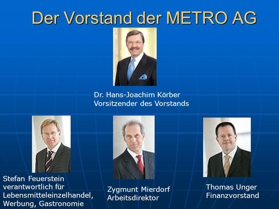 Der Vorstand der METRO AG
