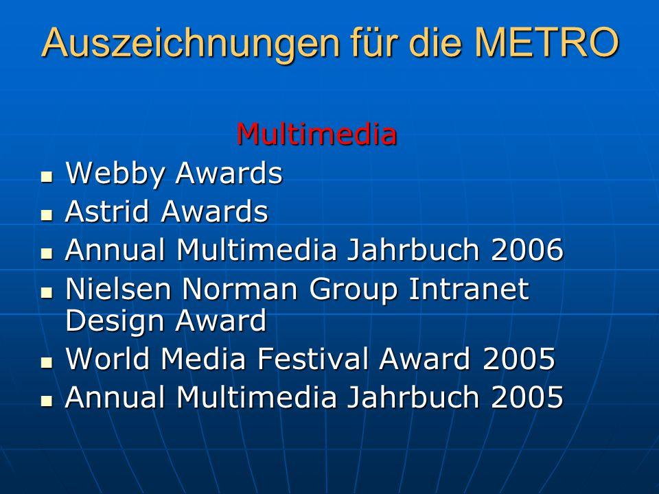 Auszeichnungen für die METRO
