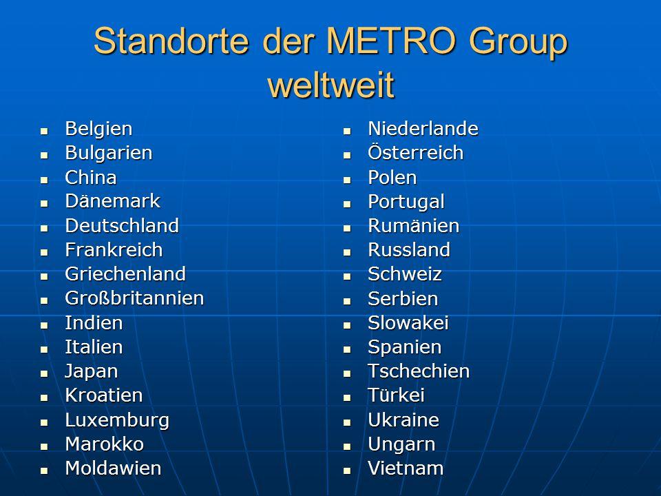 Standorte der METRO Group weltweit
