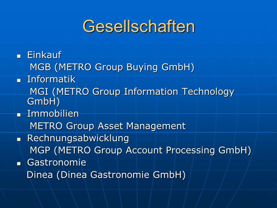 Gesellschaften Einkauf MGB (METRO Group Buying GmbH) Informatik