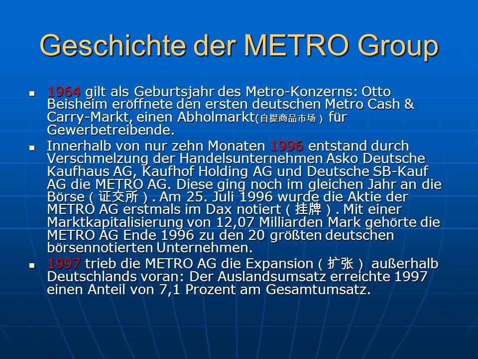 Geschichte der METRO Group
