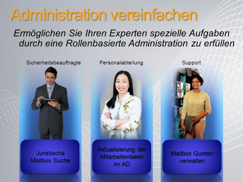 Administration vereinfachen