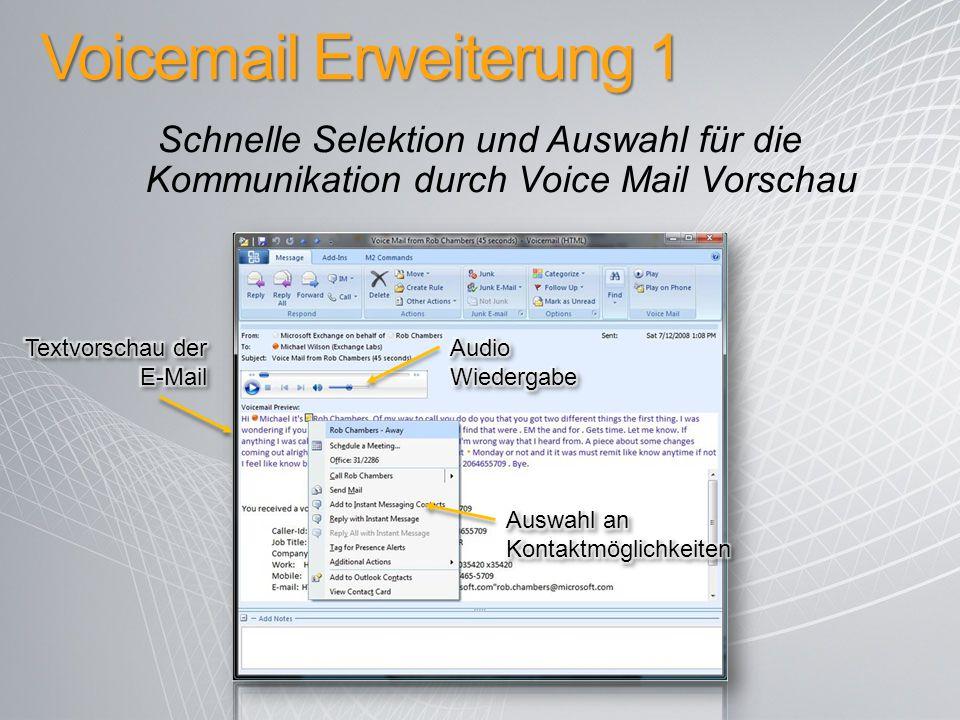 Voicemail Erweiterung 1