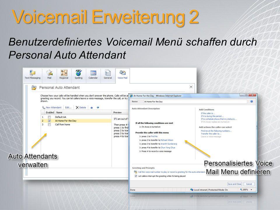 Voicemail Erweiterung 2
