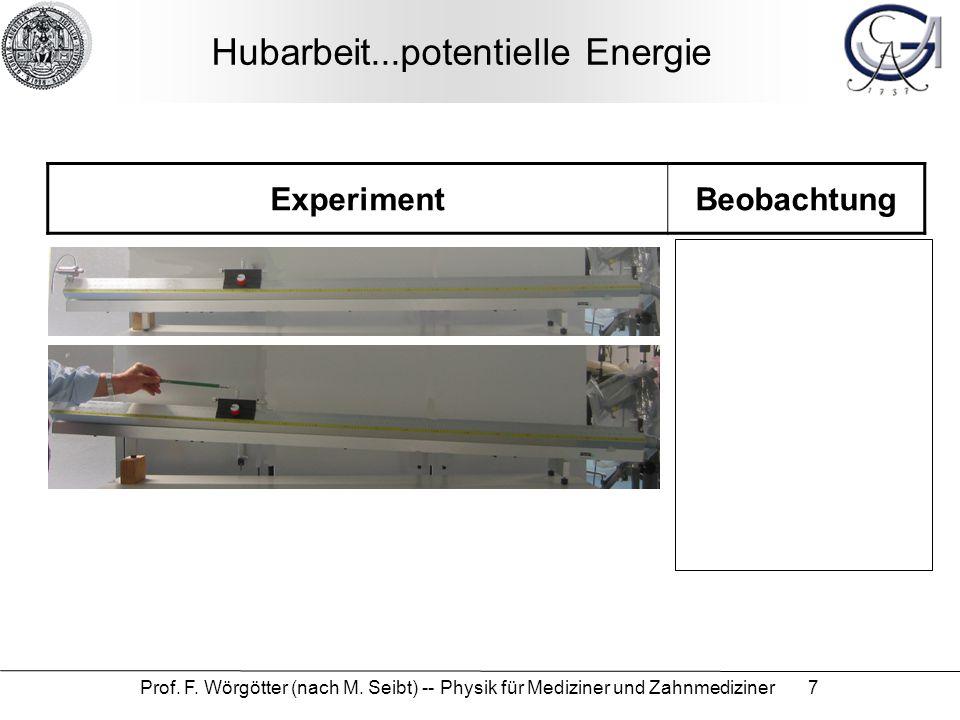 Hubarbeit...potentielle Energie