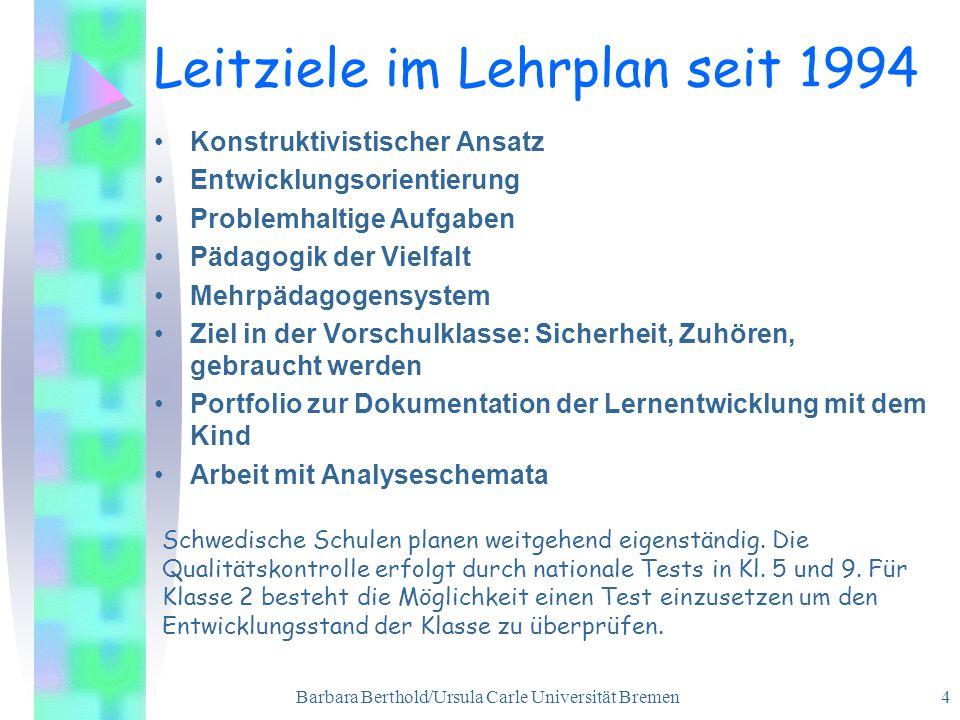 Leitziele im Lehrplan seit 1994