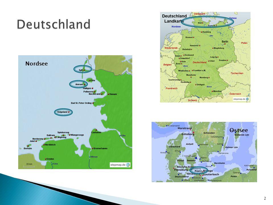 Deutschland Nordsee Ostsee