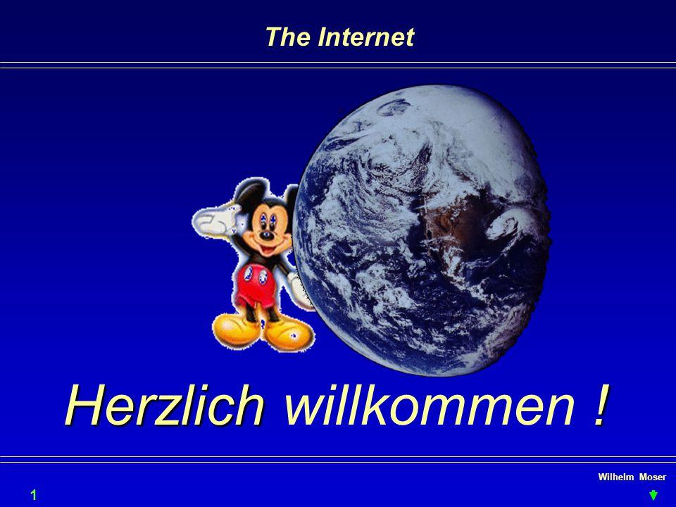 The Internet Herzlich willkommen ! Wilhelm Moser 1