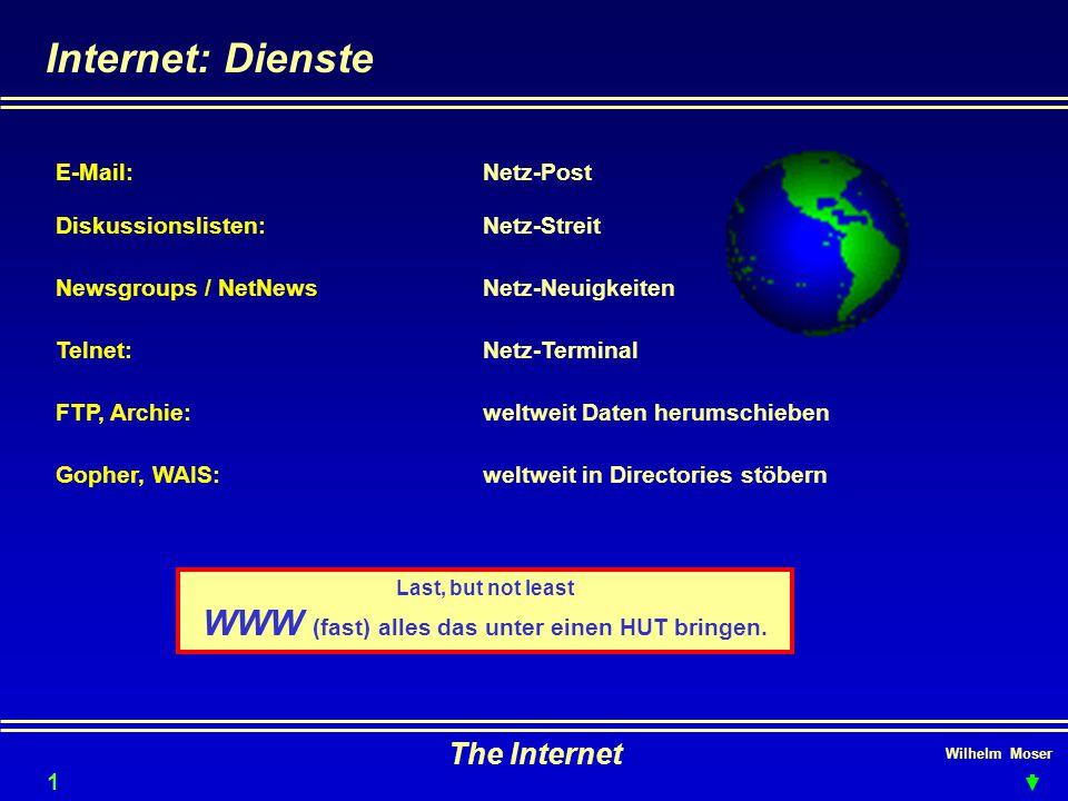 Last, but not least WWW (fast) alles das unter einen HUT bringen.