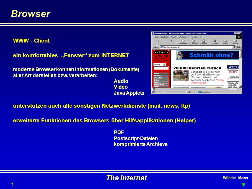 Browser The Internet WWW - Client