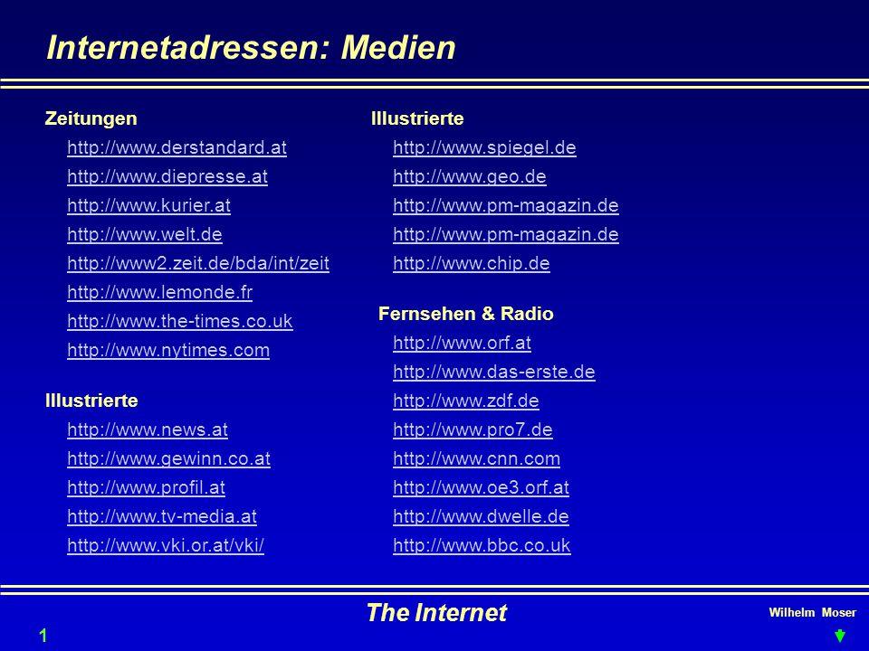 Internetadressen: Medien