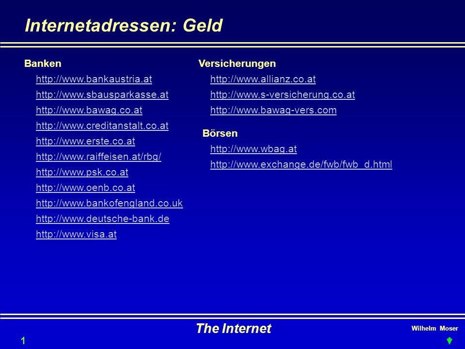 Internetadressen: Geld