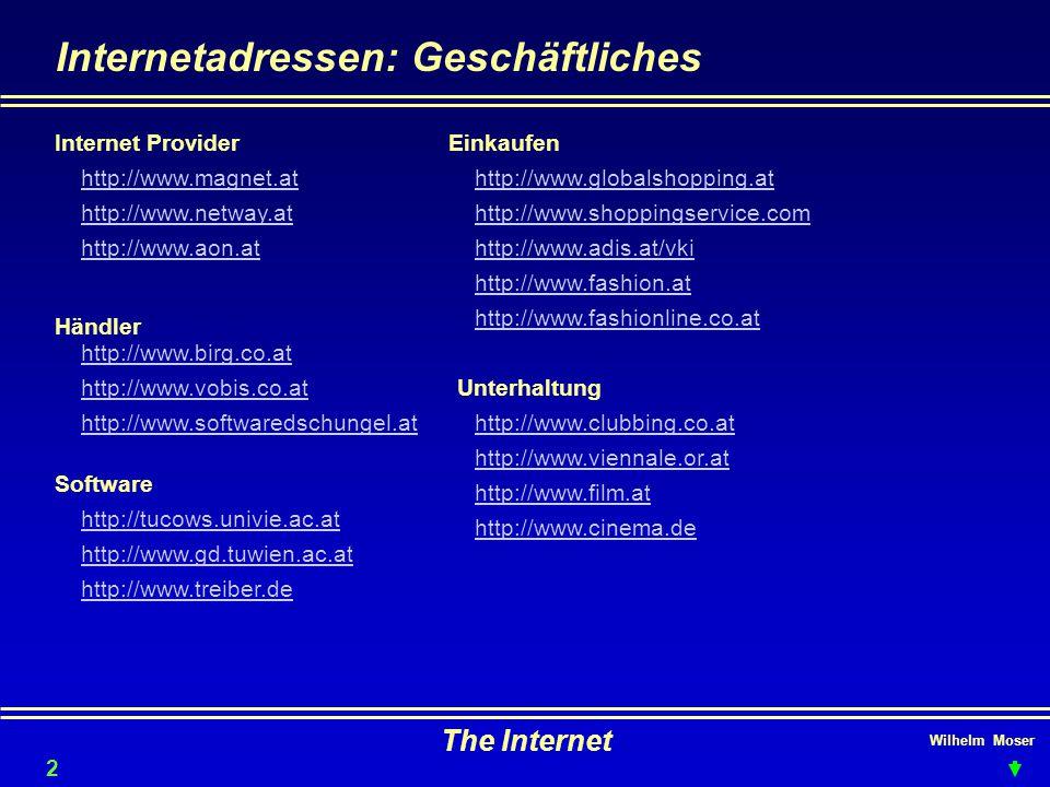Internetadressen: Geschäftliches