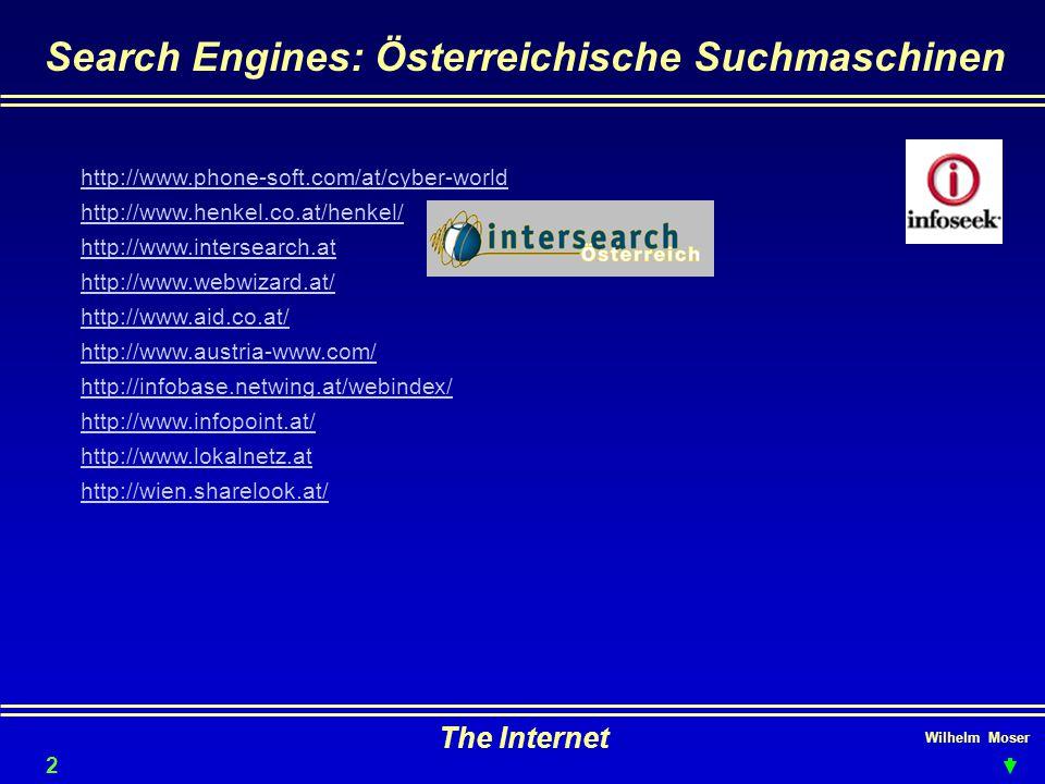Search Engines: Österreichische Suchmaschinen