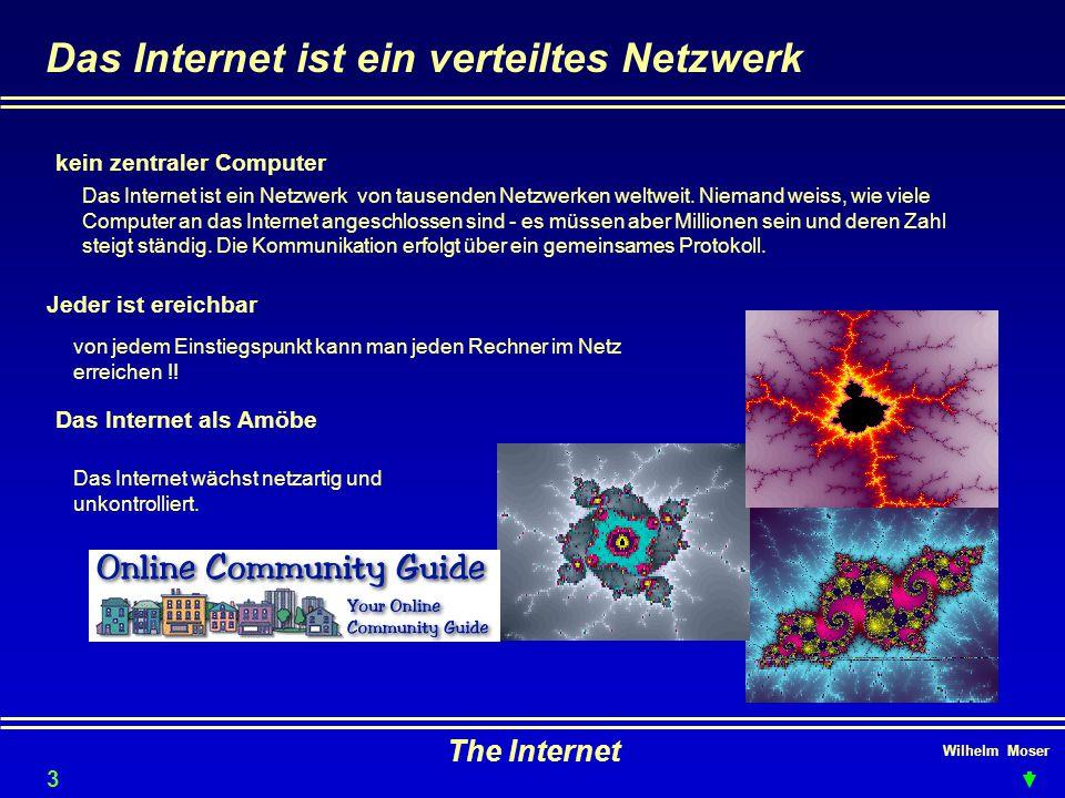 Das Internet ist ein verteiltes Netzwerk