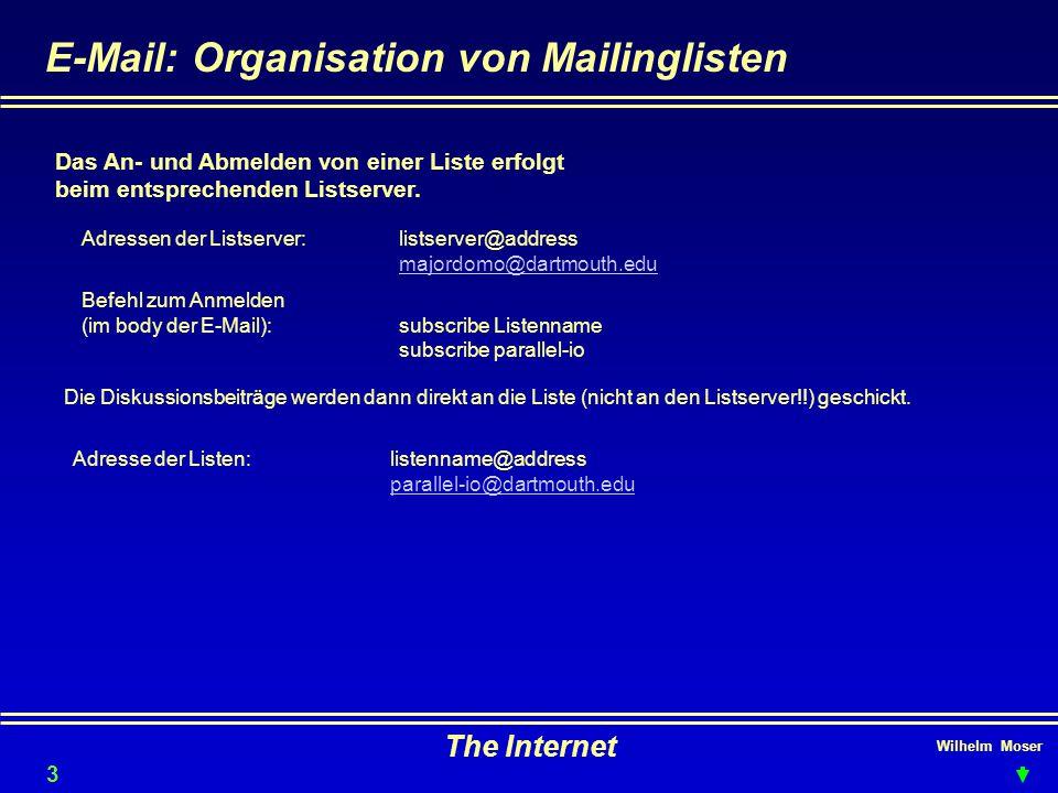 E-Mail: Organisation von Mailinglisten