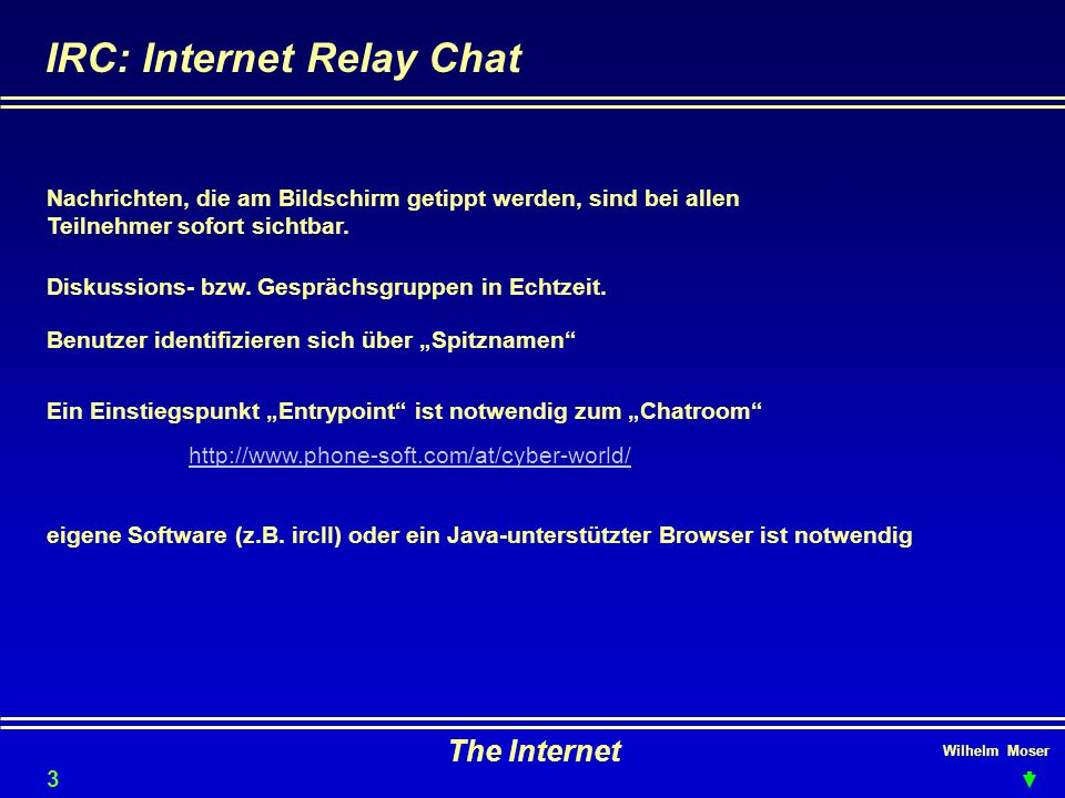 IRC: Internet Relay Chat