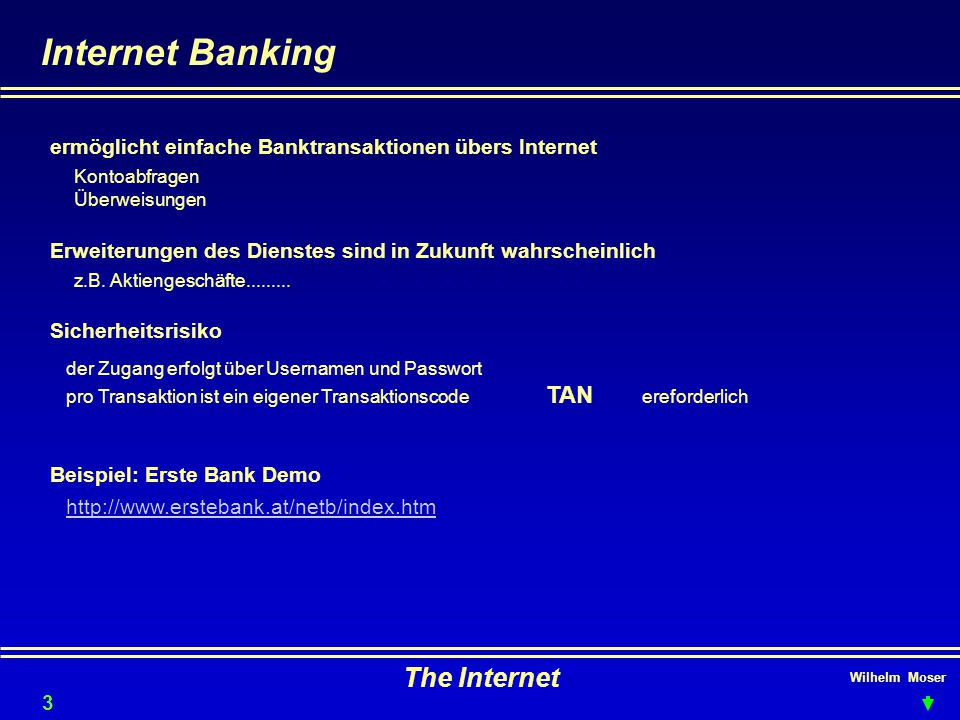 Internet Banking The Internet