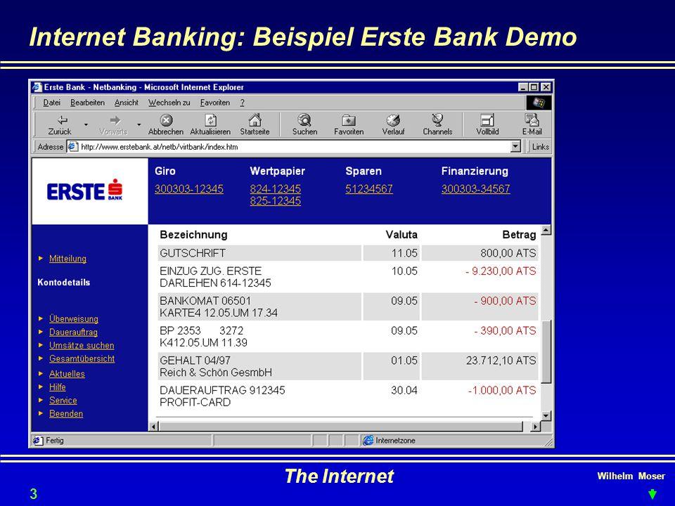 Internet Banking: Beispiel Erste Bank Demo