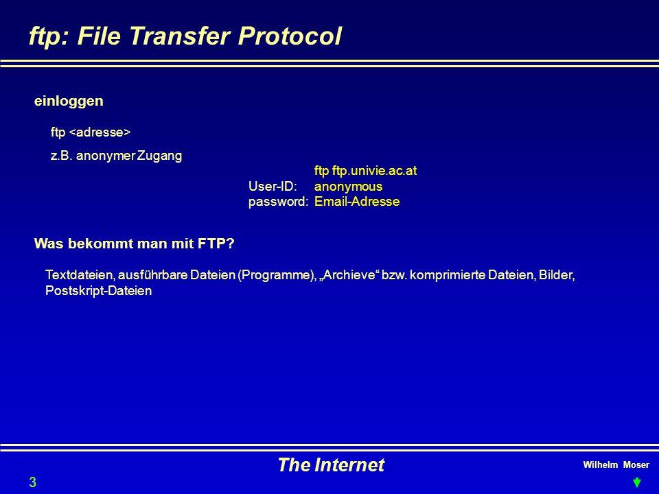ftp: File Transfer Protocol