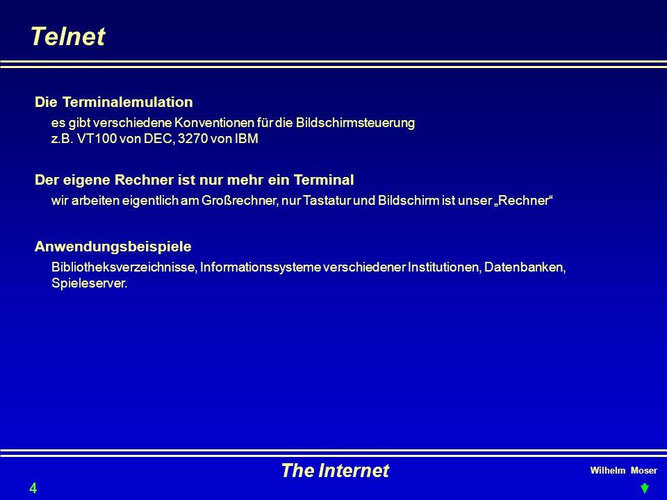 Telnet The Internet Die Terminalemulation