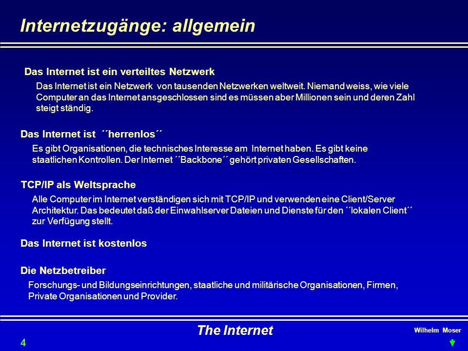 Internetzugänge: allgemein