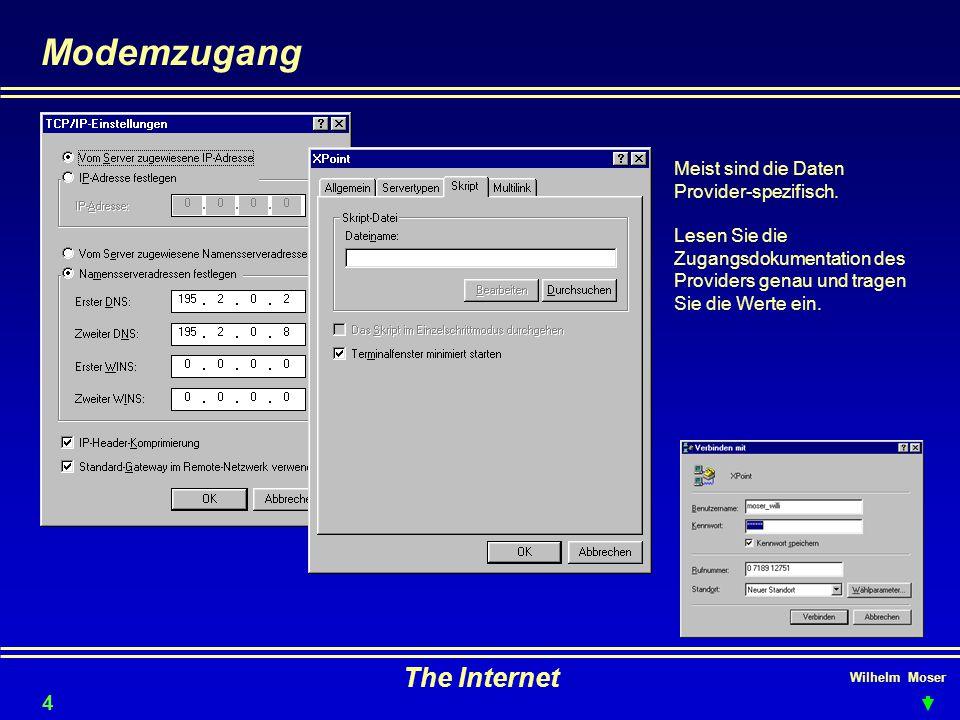 Modemzugang The Internet 4646