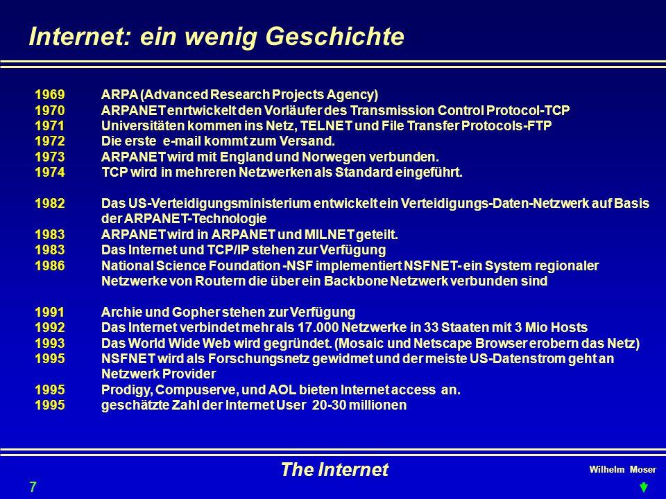 Internet: ein wenig Geschichte