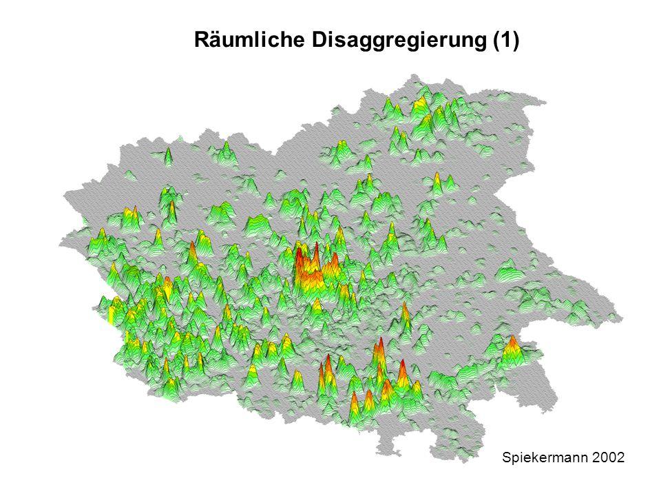 Räumliche Disaggregierung (1)