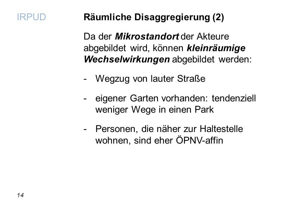 Räumliche Disaggregierung (2)