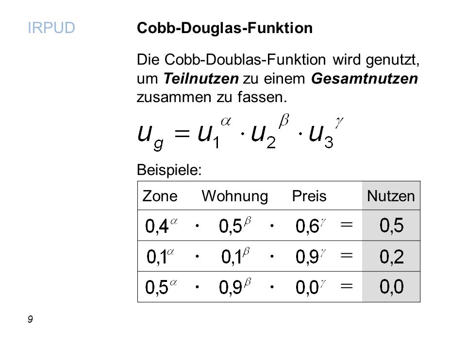 = Cobb-Douglas-Funktion