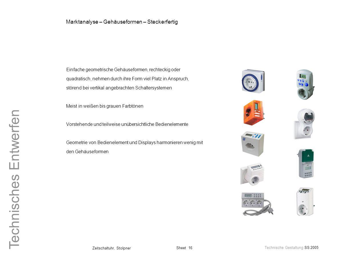 Marktanalyse – Gehäuseformen – Steckerfertig