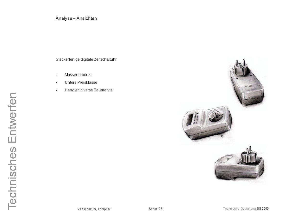 Analyse – Ansichten Steckerfertige digitale Zeitschaltuhr