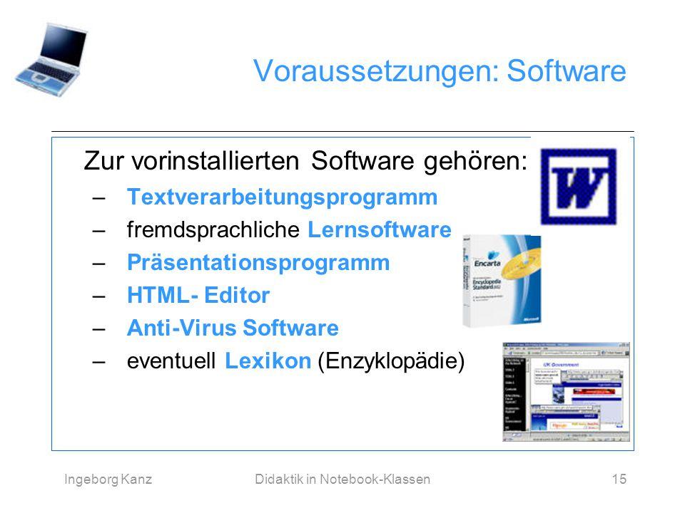 Voraussetzungen: Software