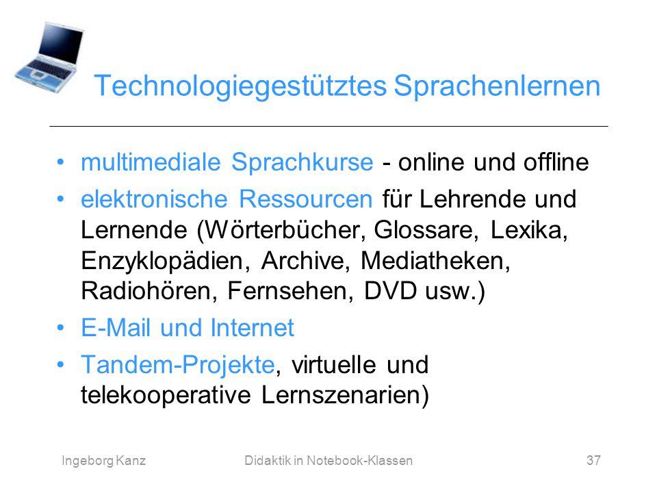 Technologiegestütztes Sprachenlernen