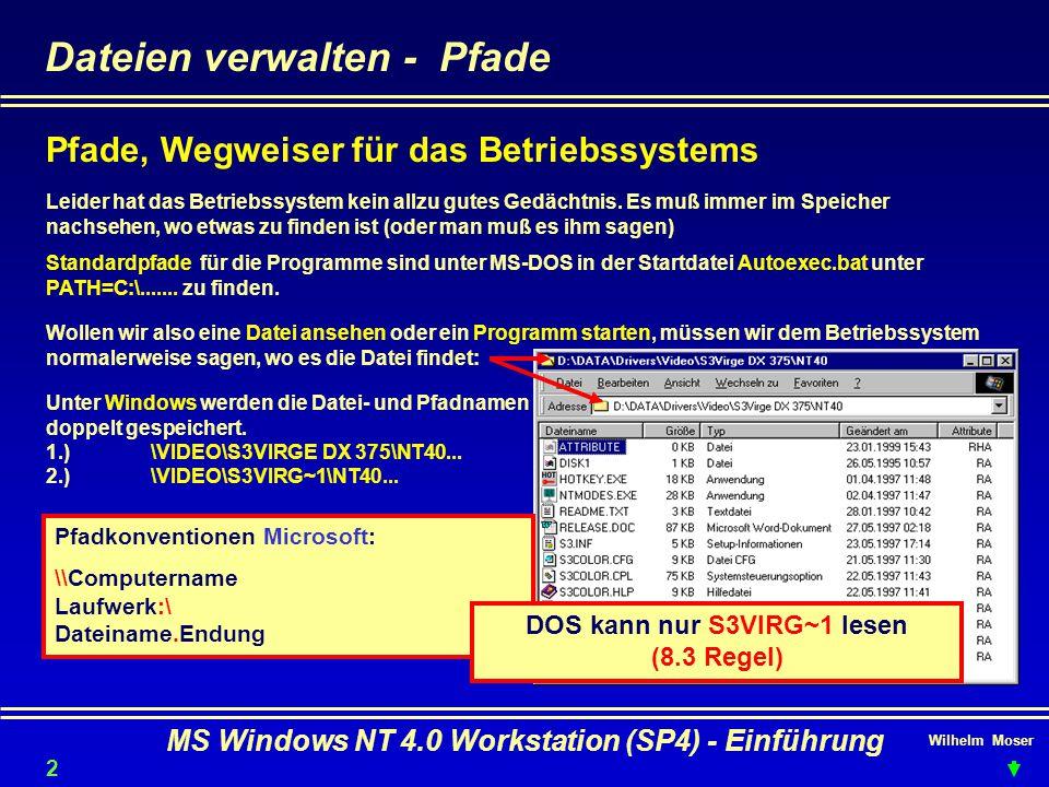 Dateien verwalten - Pfade