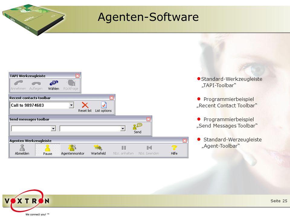Agenten-Software ●Standard-Werkzeugleiste ● Programmierbeispiel