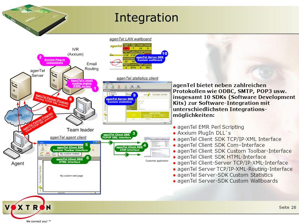 Integration agenTel bietet neben zahlreichen