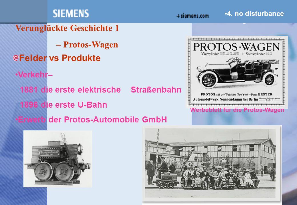 z Verunglückte Geschichte 1 – Protos-Wagen Felder vs Produkte Verkehr–