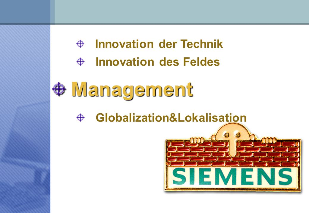 Management Innovation der Technik Innovation des Feldes