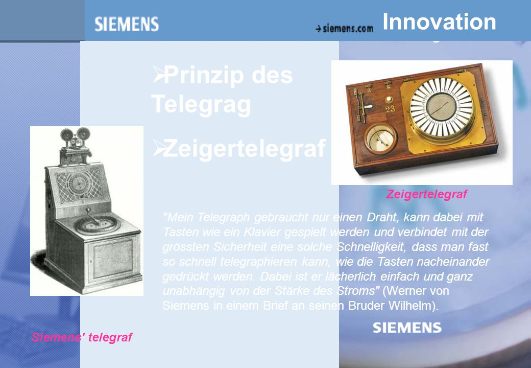 z Prinzip des Telegrag Zeigertelegraf Innovation Zeigertelegraf
