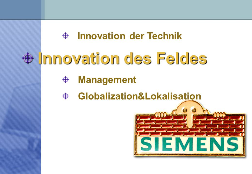 Innovation des Feldes Innovation der Technik Management