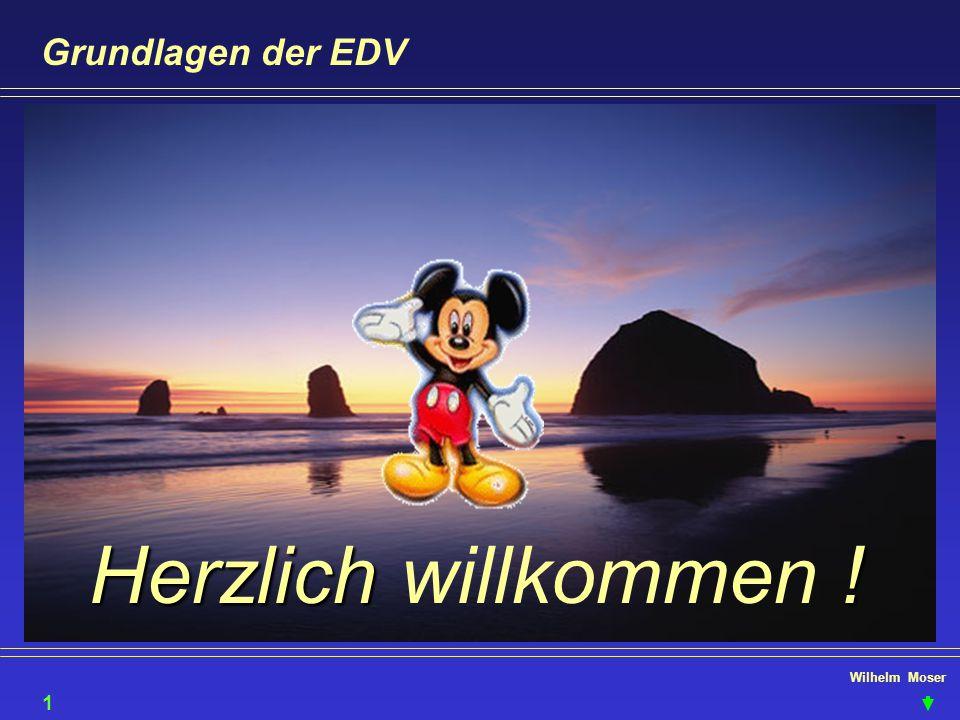 Grundlagen der EDV Herzlich willkommen ! Wilhelm Moser 1