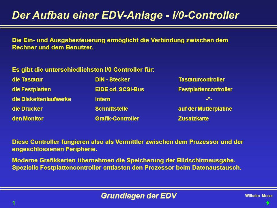 Der Aufbau einer EDV-Anlage - I/0-Controller