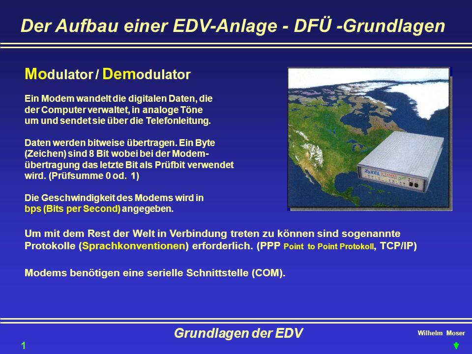Der Aufbau einer EDV-Anlage - DFÜ -Grundlagen