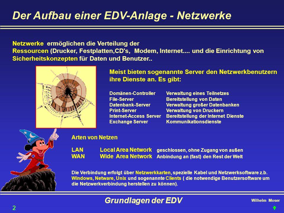 Der Aufbau einer EDV-Anlage - Netzwerke