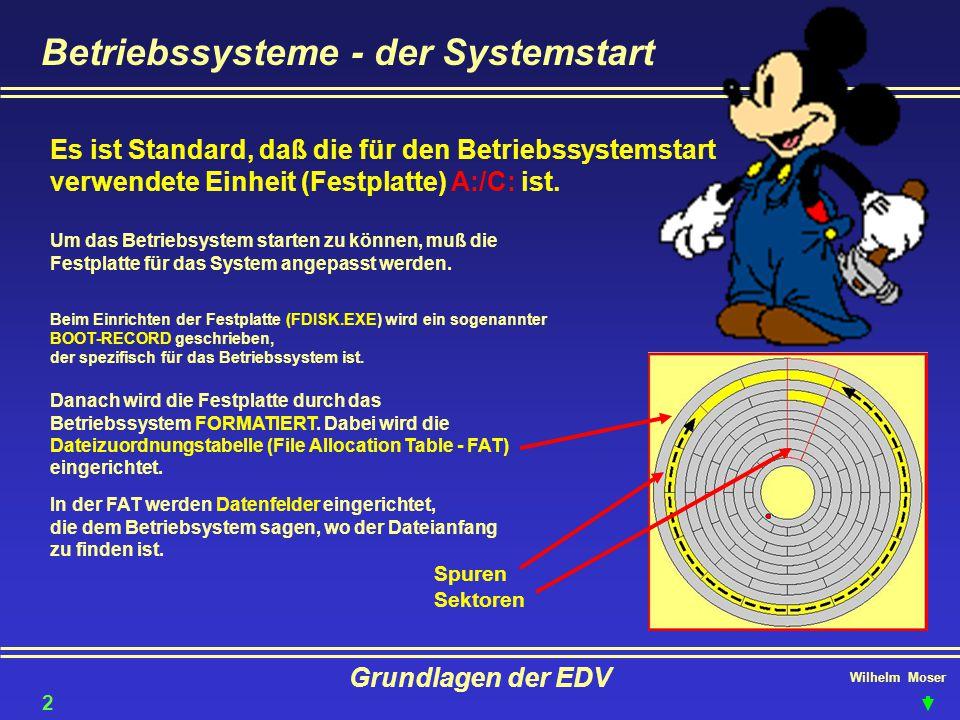 Betriebssysteme - der Systemstart