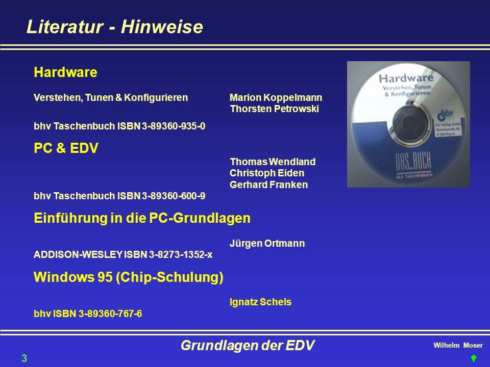 Literatur - Hinweise Hardware Verstehen, Tunen & Konfigurieren Marion Koppelmann Thorsten Petrowski.