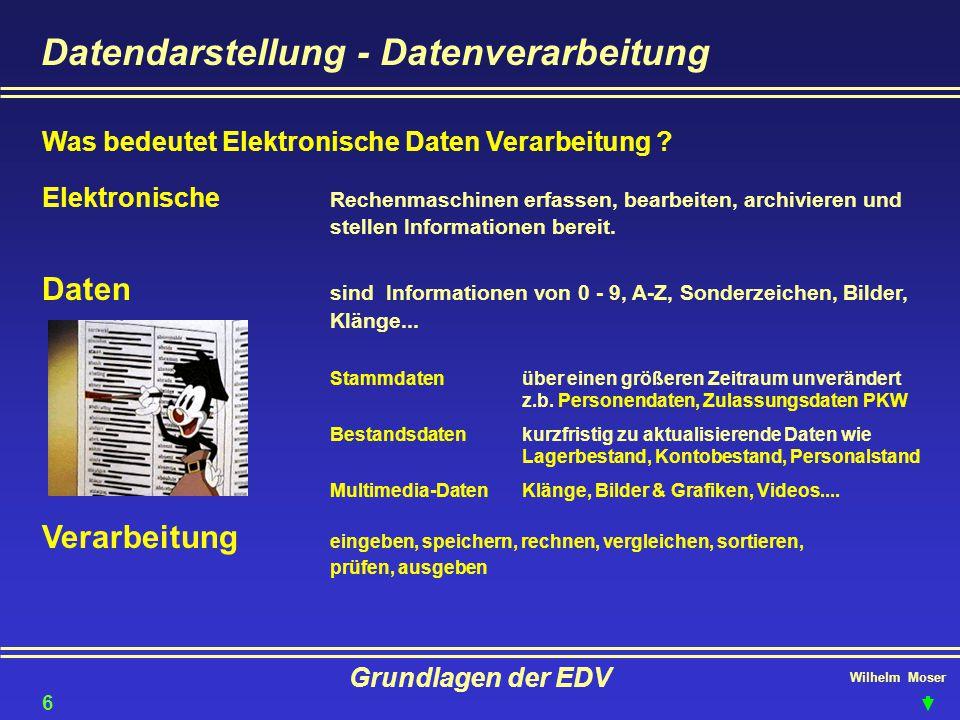 Datendarstellung - Datenverarbeitung
