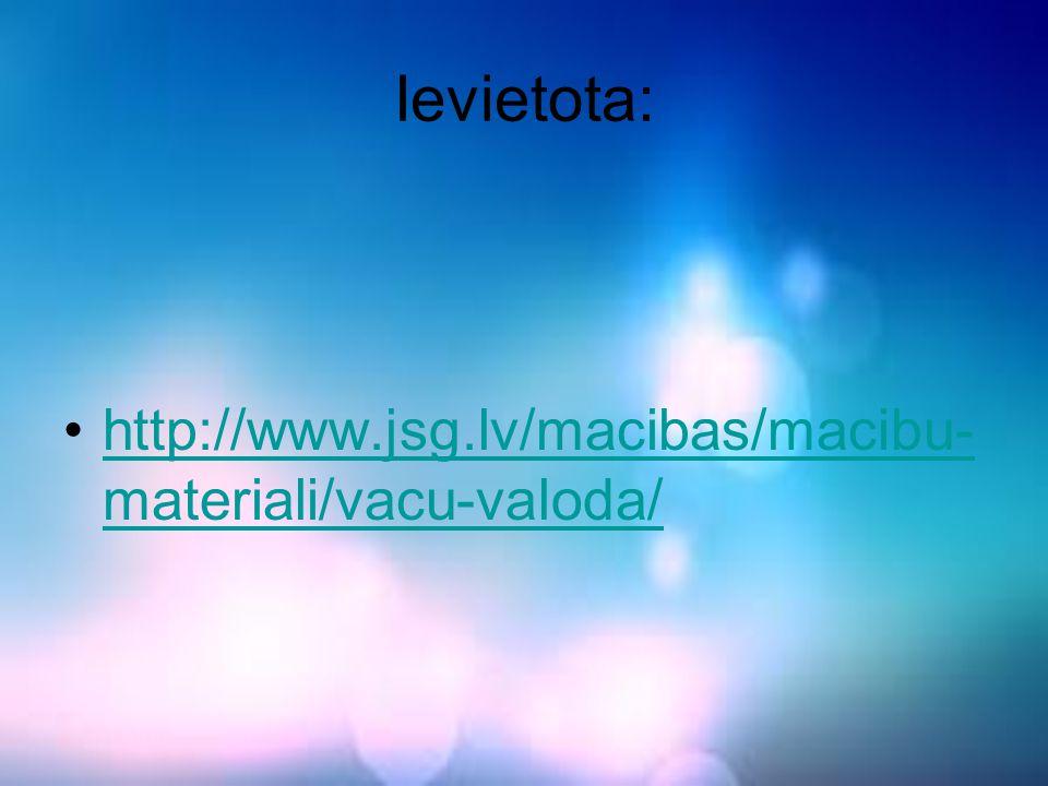 Ievietota: http://www.jsg.lv/macibas/macibu-materiali/vacu-valoda/